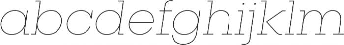 Vicky UltraLight Italic otf (300) Font LOWERCASE