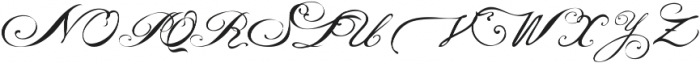 Victoria's letters otf (400) Font UPPERCASE