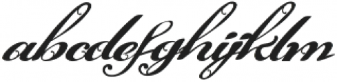 Victoria's letters otf (400) Font LOWERCASE