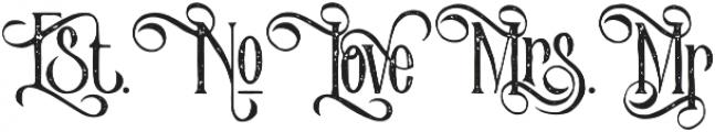 Victorian Parlor Alt Character Vintage otf (400) Font LOWERCASE