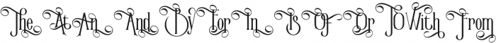 Victorian Parlor Alt Character otf (400) Font LOWERCASE