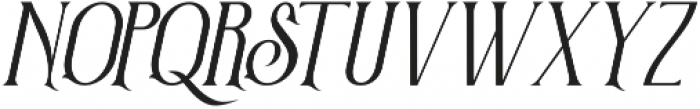 Victorian Parlor Italic otf (400) Font UPPERCASE