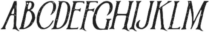 Victorian Parlor Vintage Italic otf (400) Font UPPERCASE