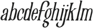 Victorian Parlor Vintage Italic otf (400) Font LOWERCASE