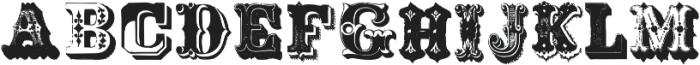 Victoriana ttf (400) Font UPPERCASE