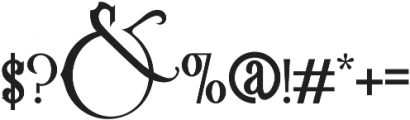 Victoriandeco Regular otf (400) Font OTHER CHARS