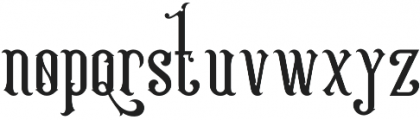 Victoriandeco Regular otf (400) Font LOWERCASE