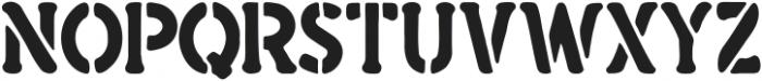 Vilarian Scout Stencil Regular ttf (400) Font UPPERCASE