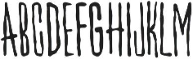 Villain Regular otf (400) Font UPPERCASE