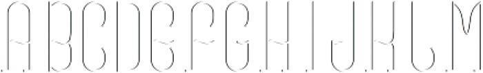 VinegarFont LightFX otf (300) Font UPPERCASE