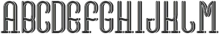VinegarFont LightShadow otf (300) Font UPPERCASE