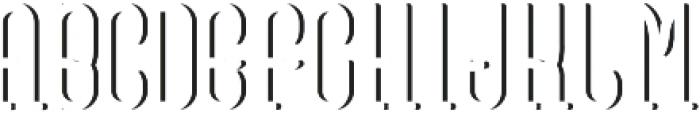 VinegarFont ShadowFX otf (400) Font UPPERCASE