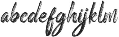 Vinegart otf (400) Font LOWERCASE