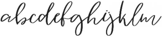 Vingiloth Regular otf (400) Font LOWERCASE
