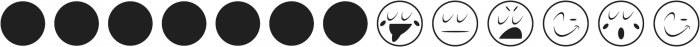 Vintage Emojis Regular otf (400) Font LOWERCASE