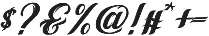 Vintage Melody otf (400) Font OTHER CHARS