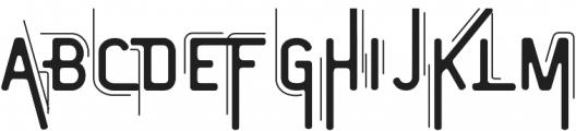 Vintage Modern Regular ttf (400) Font UPPERCASE