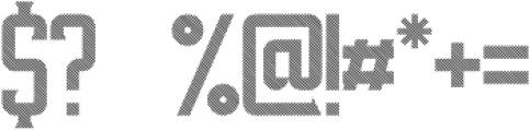 VintageWhiskey Striped otf (400) Font OTHER CHARS