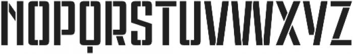 Violenta Stencil Regular otf (400) Font UPPERCASE