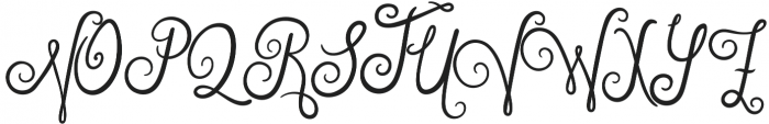 Violet Night otf (400) Font UPPERCASE