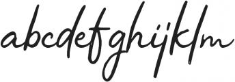 Virginal otf (400) Font LOWERCASE