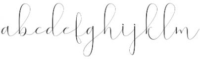 Virgita otf (400) Font LOWERCASE