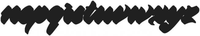 Virmana Extrude 1 otf (400) Font LOWERCASE