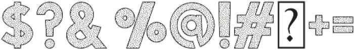 Visage Bold Polka Dot otf (700) Font OTHER CHARS