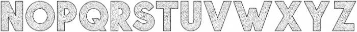 Visage Bold Polka Dot otf (700) Font UPPERCASE