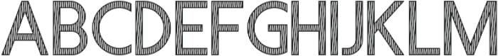 Visage Lines otf (400) Font UPPERCASE