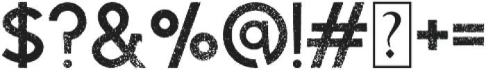 Visage Rough otf (400) Font OTHER CHARS