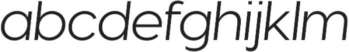 Visby CF Light Oblique otf (300) Font LOWERCASE