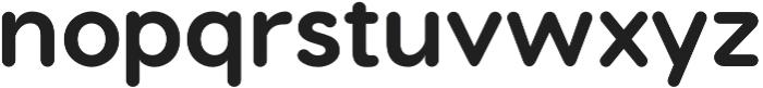 Visby Round CF Bold otf (700) Font LOWERCASE