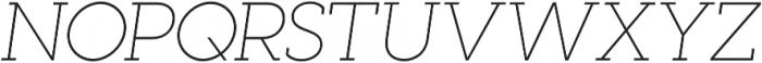 Visby Slab CF Thin Oblique otf (100) Font UPPERCASE