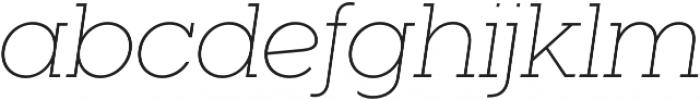 Visby Slab CF Thin Oblique otf (100) Font LOWERCASE