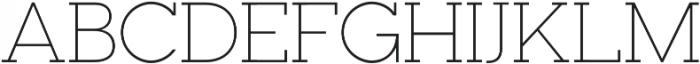 Visby Slab CF Thin otf (100) Font UPPERCASE