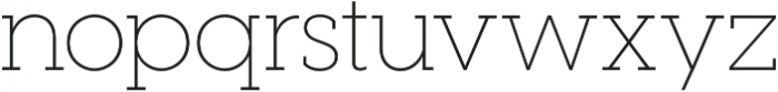 Visby Slab CF Thin otf (100) Font LOWERCASE