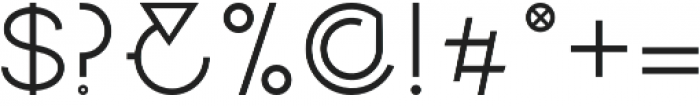 Vision otf (400) Font OTHER CHARS