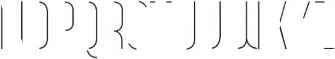 Vitacura Line otf (400) Font LOWERCASE