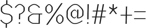 Vital regular otf (400) Font OTHER CHARS