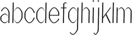 Vital regular otf (400) Font LOWERCASE