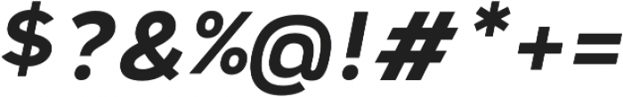 Vitala Bold Oblique otf (700) Font OTHER CHARS
