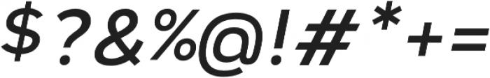 Vitala Medium Oblique otf (500) Font OTHER CHARS