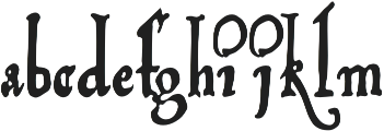 Vito otf (300) Font LOWERCASE