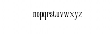 Victorian Parlor Font LOWERCASE