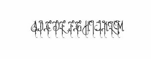Victoriandeco Regular.ttf Font UPPERCASE
