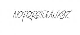 VirginiaOD-Script.ttf Font UPPERCASE