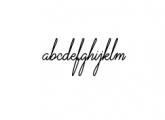 VirginiaOD-Script.ttf Font LOWERCASE