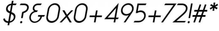 Viata Light Oblique Font OTHER CHARS