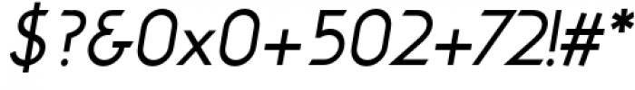Viata Oblique Font OTHER CHARS
